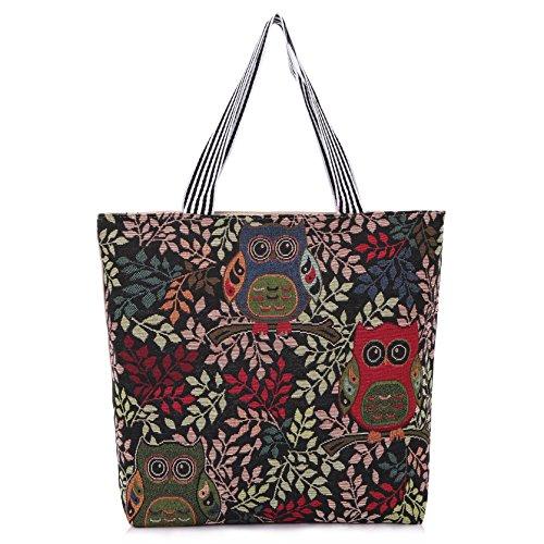 Aofit Einkaufstasche wiederverwendbar Wäschesack Handtasche Schultertasche Camping-Tasche, Textil, #183, Einheitsgröße #199