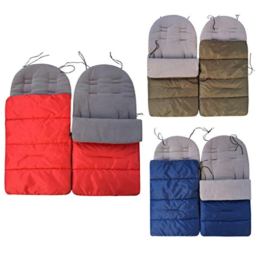 Baby Stroller Sleeping Bag Toddler Bunting Bag Footmuff Pram Blanket Keep Warm Apron (Red)