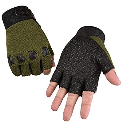 NUWFOR Men's Windproof Waterproof Bicycle Leather Slip Plus Velvet Thickening Gloves White