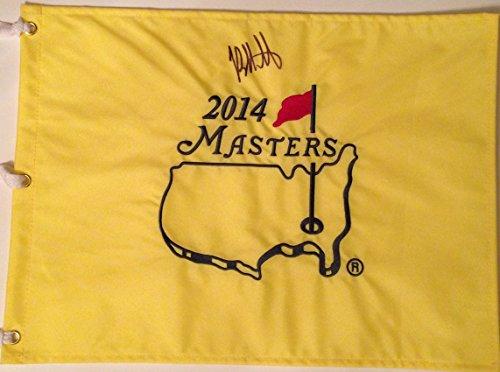 BUBBA WATSON Signed 2014 MASTERS Golf Tournament Pin FLAG