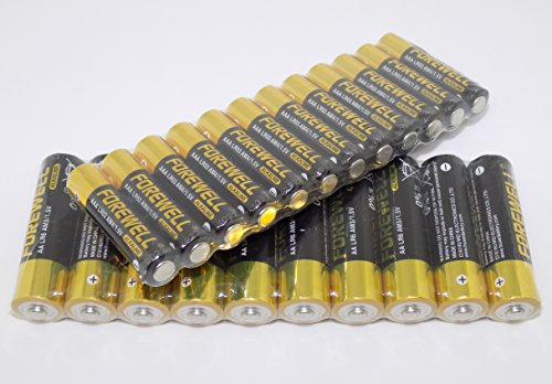 FOREWELL AA AAA High-Power High-Capacity Alkaline Batteries, Especially for High-Power Appliances, 1.5VAA (LR6 AM3 2800mAH) and AAA (LR3 AM4 1200mAH), A Total of 22 Packets (2 Board)Real High Capacity
