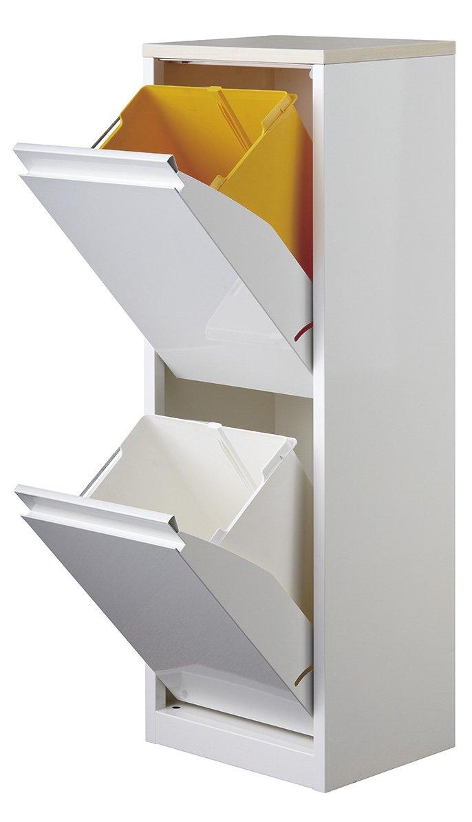 ダストボックス 2分別タイプ YY-WSB-32 ホワイト/メープル B01AFL9HAW 32cm幅 ホワイト/メープル ホワイト/メープル 32cm幅