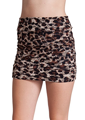 Leopard Print Mini Skirt - 6