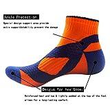 TangTown Athletic Socks Men's Sports Ankle Socks Performance Running DRI-FIT Socks(4 pair)