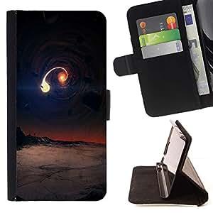 Momo Phone Case / Flip Funda de Cuero Case Cover - Universo Arte extranjero Planet Galaxy Colisión - Samsung Galaxy S6 Edge Plus / S6 Edge+ G928