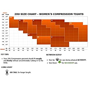 2XU Women's Mid-Rise Compression 7/8 Tights (Steel/Black Reflective, Medium)