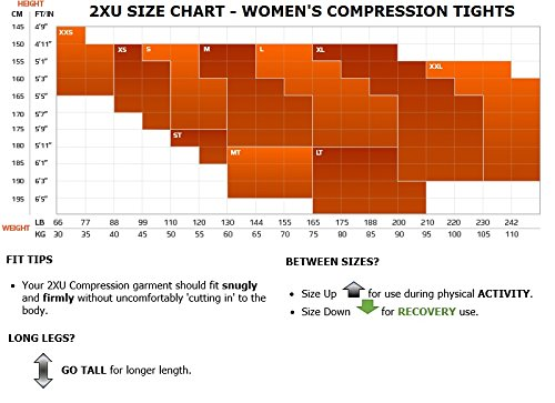 2XU Women's Fitness Compression Tights, Dark Charcoal/Silver, Medium/Tall by 2XU (Image #4)