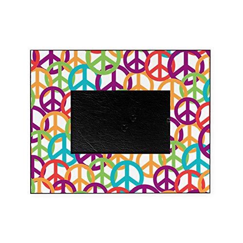CafePress Colorful Peace Symbols Decorative 8x10 Picture Frame