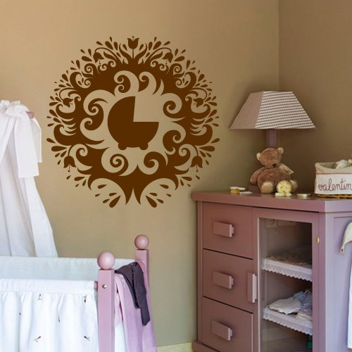 Wall Decor Vinyl Sticker Room Decal Baby Kid Kiddy Dream Love Child Infant Babbie Pram Tree Nature Green Garland Herb Foliage Herb (S87) (Garland Herb)