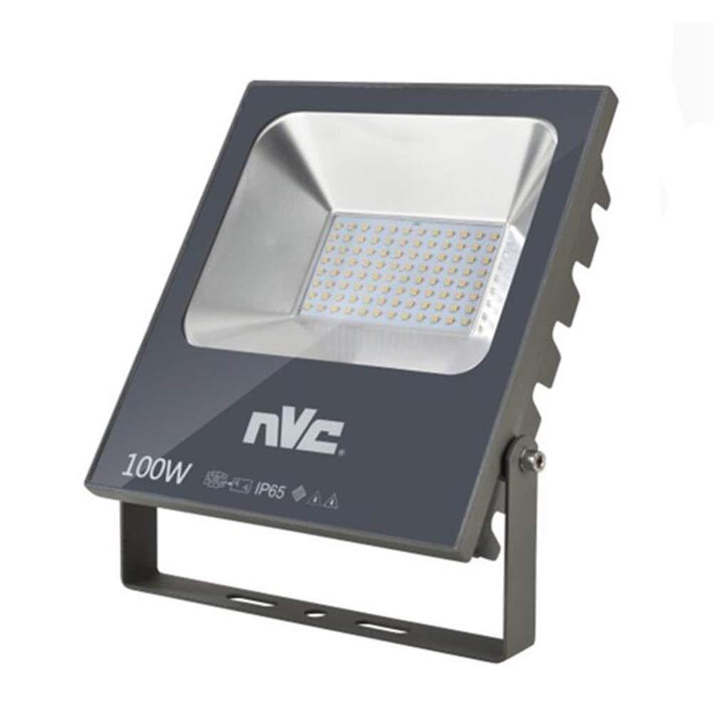 H-XH Strahler Mit,Außen Baustelle Wasserdichte Sicherheitslampe Tunnel Edelstahl-Projektions-Lampe (Größe   100W)