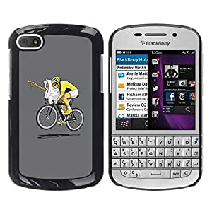 LECELL -- Funda protectora / Cubierta / Piel For BlackBerry Q10 -- Funny E.T Bicycle Race --