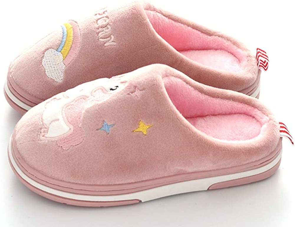 Coqui Pantoufles Licorne pour Filles et gar/çons Chaussons dhiver en Peluche antid/érapants Chaussures de Maison Doux Chaud Confortable