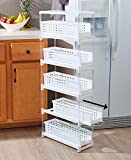 The Lakeside Collection 5-Tier Sliding Drawer Storage -