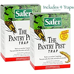 Safer Brand 05140 The Pantry Pest Trap (2 pack of 2) & bonus Moth Trap Made by Q-Traps