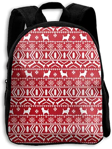 The Children`s Red Christmas Holiday Dog Backpack / The Children`s Red Christmas Holiday Dog Backpack