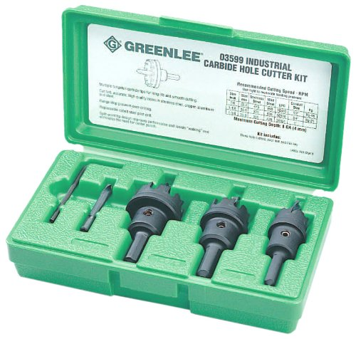 Tipped Hole Cutter Kit (Carbide Hole Cutter)