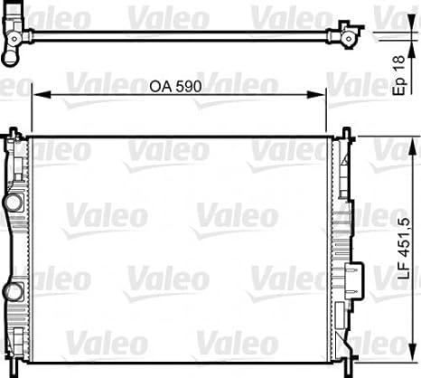 Amazon.com: VALEO Engine Cooling Radiator Fits NISSAN ...