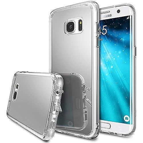 Galaxy S7 Edge Case, Ringke [FUSION MIRROR] Bright Reflection Radiant Luxury Mirror Case [Silver] Convenient On-the-go Sales