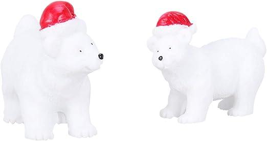 LIOOBO 6 Piezas Oso Polar de Navidad Mini Oso de Resina Oso de ...