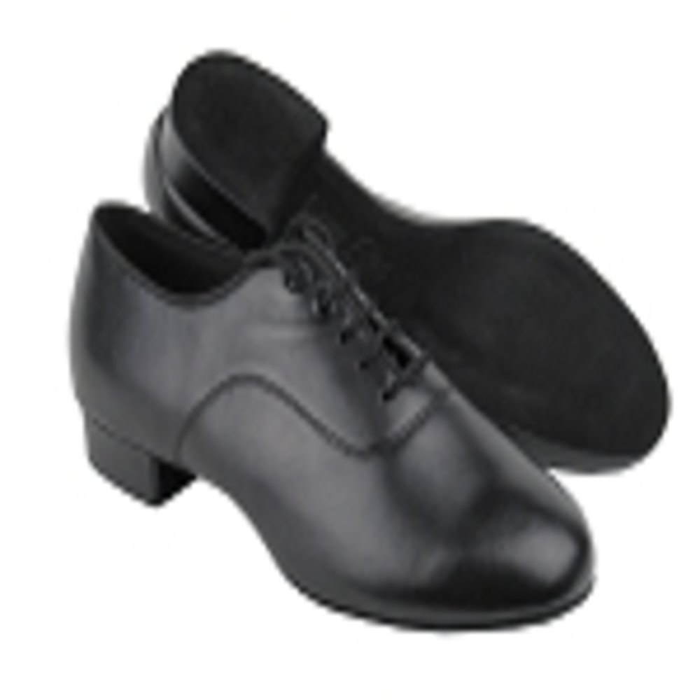 Stephanie Boys Black Leather Ballroom Dance Shoe GO6010B in size 1.5 with 1 inch heel by Stephanie