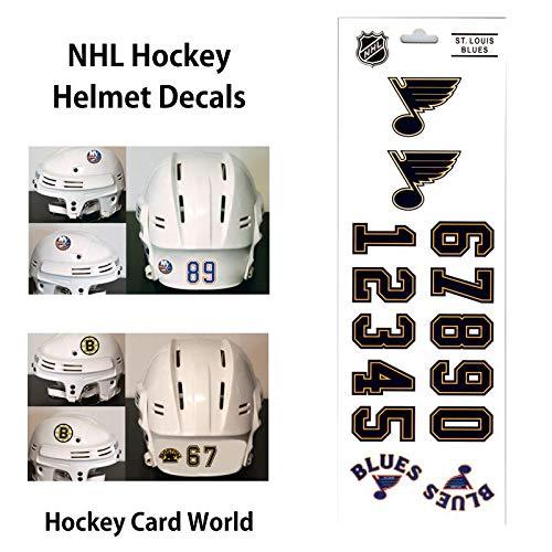 (HCW) St. Louis Blues SportsStar NHL Hockey Helmet Decals Sticker Sheet
