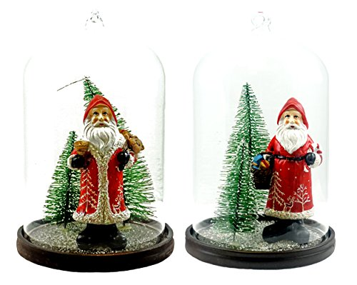 Special T Imports Santa Claus Winter Scene in Snow Globe Figurines - Set of 2
