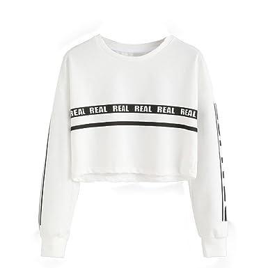 a7852a9813d2a FRYS Sweat Shirt Fille Pull Courte Femme Hiver Chic Mode Manteau Femme  Grande Taille Vetement Femme