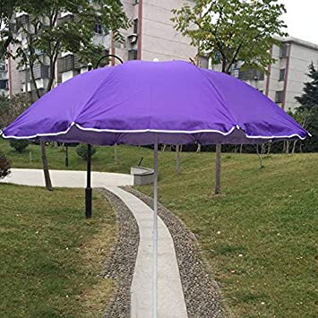 Hcyai Jardín Sombrilla, Extra Grande Patio de Doble Cara Paraguas de Sol, protección UV, con la Cubierta Protectora de Rojo púrpura Azul, 1.5 * 2M,Púrpura: Amazon.es: Deportes y aire libre