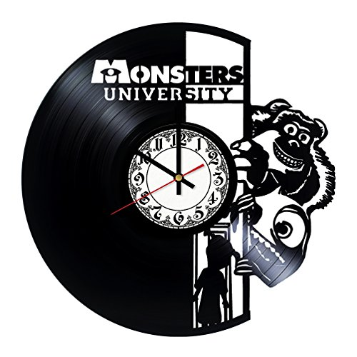 Monsters University Handmade Vinyl Record Wall Clock - Get unique room wall decor - Gift ideas for his and her - Modern Unique Home Art Design