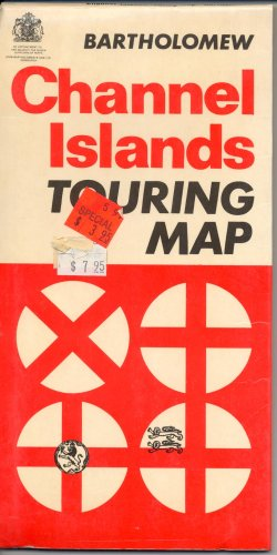 Map Channel Islands Touring Map English Channel, Guernsey, Sark, Alderney, Jersey