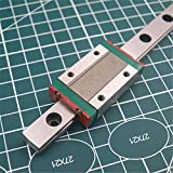 WillBest 1pcs 400mm Hardened Steel Rail and Carriages MGN-12H Linear Guide for Reprap Kossel Delta 3D Printer