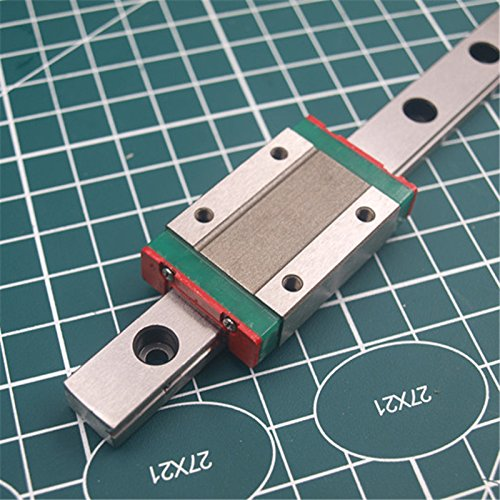 WillBest 1pcs 400mm Hardened Steel Rail and Carriages MGN-12H Linear Guide for Reprap Kossel Delta 3D Printer by WillBest
