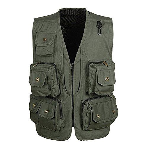 DDDFVVDS MJJ Multi Pocket Weste Vest. Freizeithocker Fischerhocker Vest. Xinhua Regisseur Westen Outdoor B01JYVI1J2 Westen Langfristiger Ruf