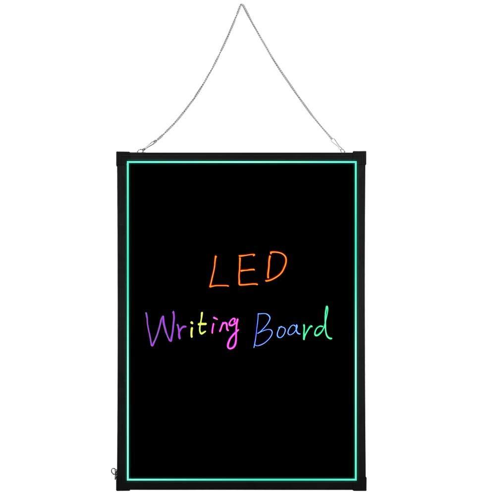 LED Writing Board, 27 x 32Inch Illuminated Fluorescence Erasable LED Message Menu Writing Sign Board by AYNEFY