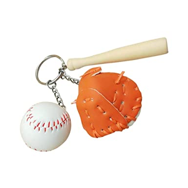 STOBOK Llaveros deportes béisbol softball decoración llave ...