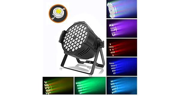 ⏰WTD 54 LED Durable 180W Par Light, 3 en 1 Color Disco Stage ...