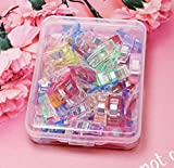 50PCS Multicolor Sewing Clip Set - Colorful Plastic Quilting Crocheting Craft Knit Wonder Clip for Sewing Quilting Crafting Knitting