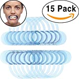 Nylea 15 Pack Cheek Retractor for Speak Out Game and Watch Ya Mouth C-SHAPE Adult Teeth Whitening Intraoral Lip Dental Retractors Mouth Opener [Blue]