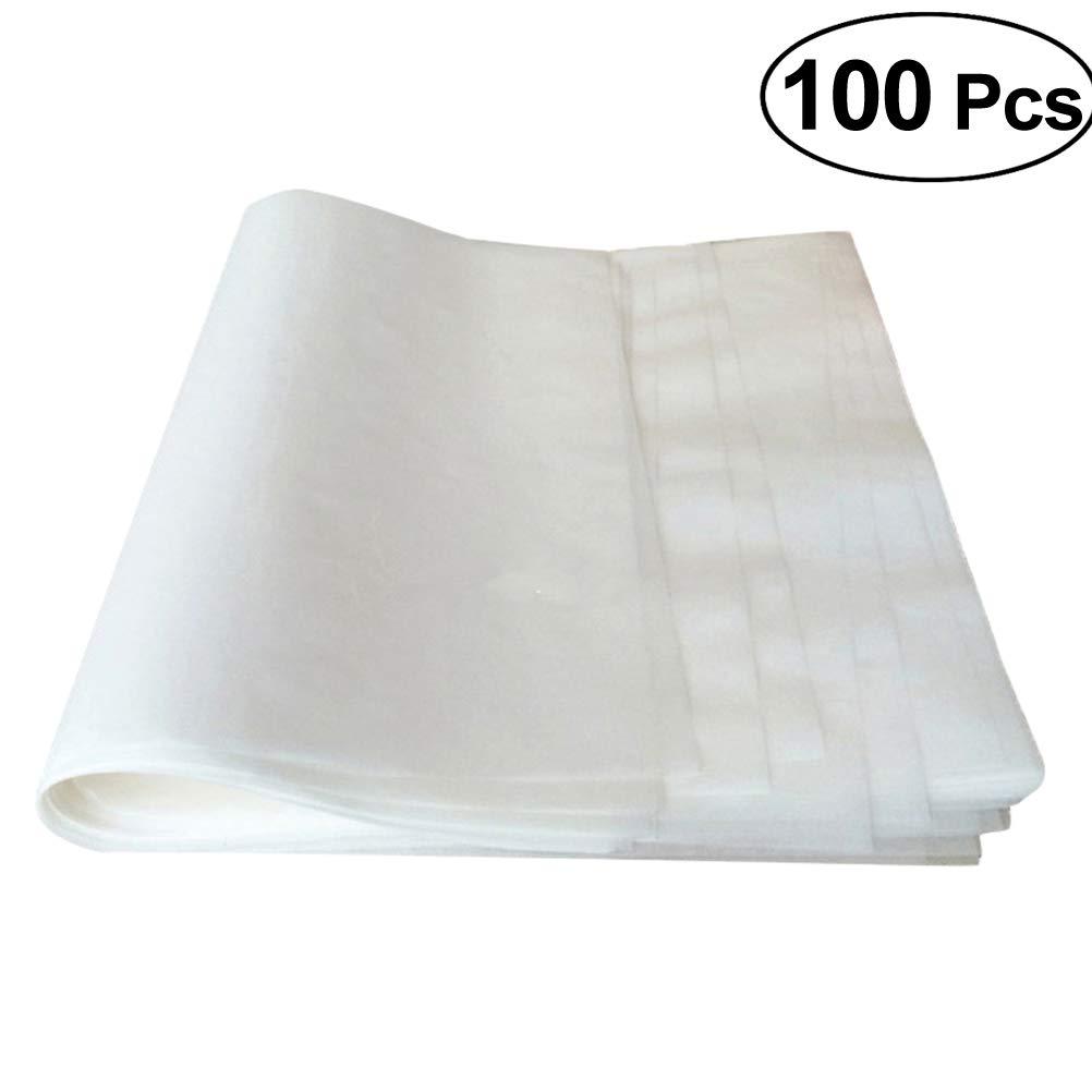 Bestonzon 100pcs fogli di carta oleata antiaderente pergamena carta da forno per dolci, biscotti, liner 25x 35cm