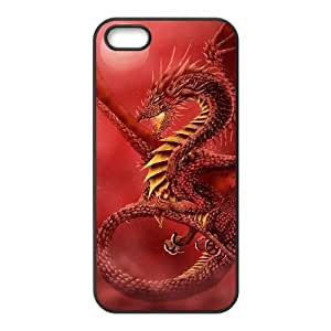 HOPPYS Diy Red Dragon Selling Hard Back Case for Iphone 5 5g 5s