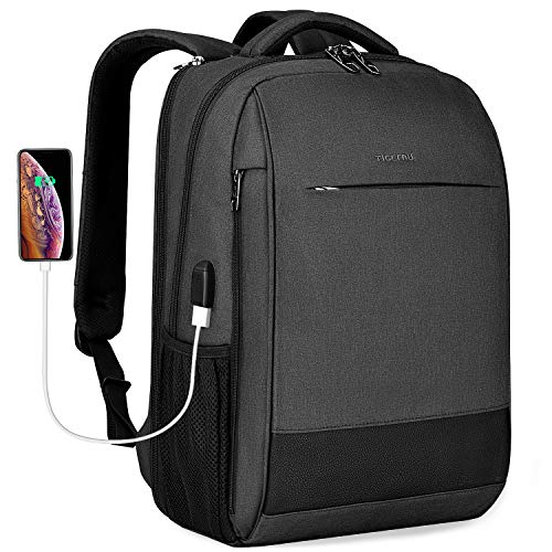 Laptop Backpack,Tigernu Business Travel Anti Theft Slim Durable Laptops Backpack with USB Charging Port,Water Resistant…