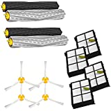 Amyehouse Hepa Filters & Armed-3 Brush & Tangle Free Debris Extractor for iRobot Roomba 800 900 Series 860 870 871 880 960 980 Vacuum Cleaner Replacement Parts