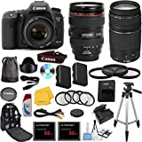 Canon EOS 7D Mark II Digital SLR Camera with EF 24-105mm f/4 L IS USM Lens Celltime Exclusive Bundle with EF 75-300mm f/4-5.6 III Telephoto Zoom Lens + High-Capacity Battery + 3pc Filter Glass Kit + 4pc Macro Lens Kit + 2pcs 32GB Memory Cards + 16pc Accessory Kit