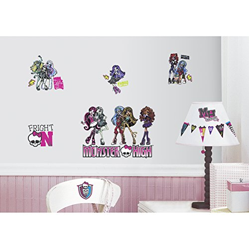 RoomMates RMK2190SCS Monster High Peel and Stick Wall Decals (Monster High Room Stickers)