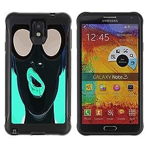 LASTONE PHONE CASE / Suave Silicona Caso Carcasa de Caucho Funda para Samsung Note 3 / Pop Art Neon Girl