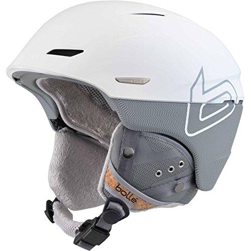 (Bolle Millennium Soft Knit Helmet, White/Grey, 58-61cm)