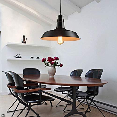 FidgetGear 26/36cm Industrial Loft Pendant Light Chandelier Lid-Shape Aluminum Ceiling Lamp White 36cm by FidgetGear (Image #5)