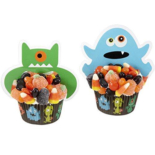 Wilton Halloween Monster Cupcake Pics - 12 count