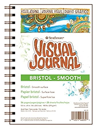 Watercolor 9 by 12-Inch Pro-Art Strathmore Visual Journal Spiral Bound Art Pad