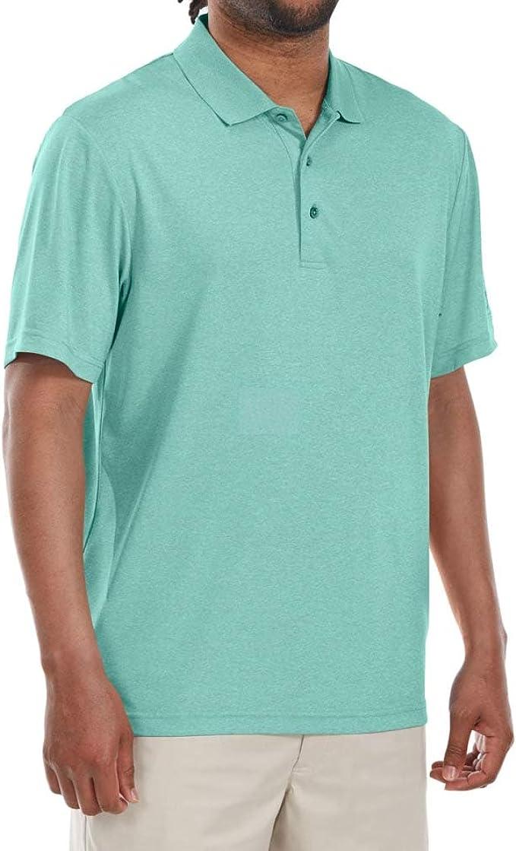 PGA TOUR Hombre P000450637 Manga Corta Camisa de Golf - Verde - X ...